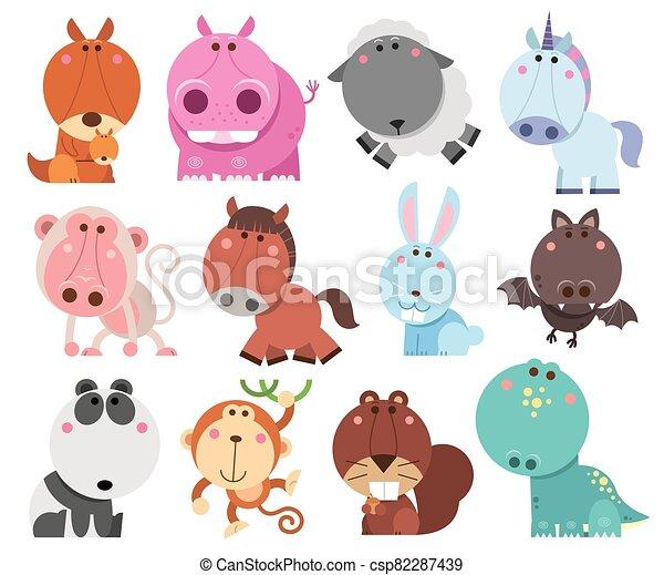 Animals cartoon - csp82287439