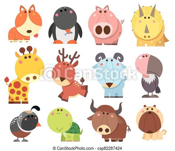 Animals cartoon - csp82287424