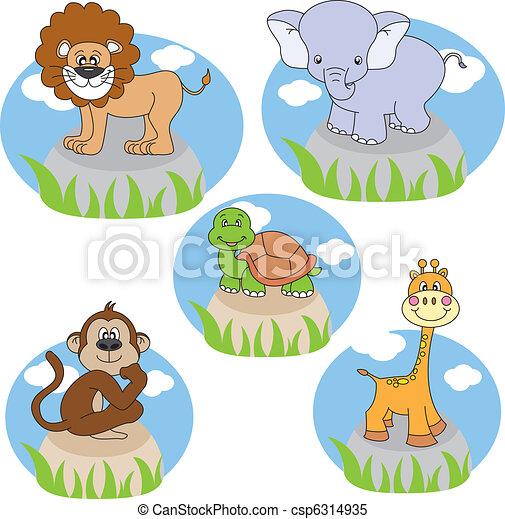 animals cartoons - csp6314935