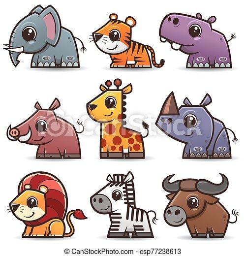 Animals cartoons - csp77238613