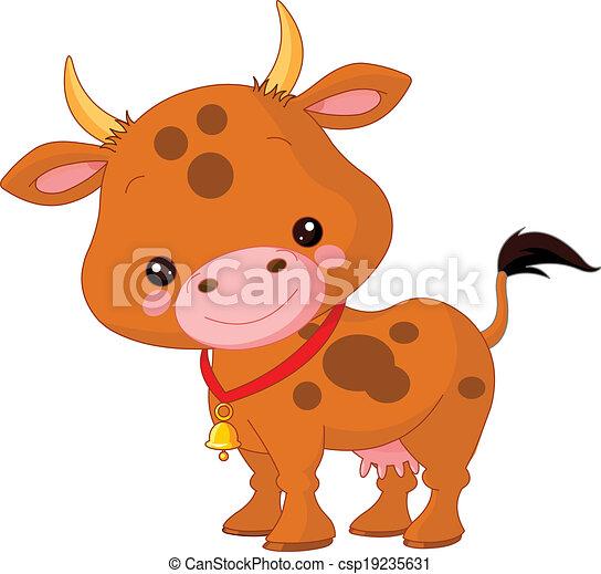 Animales de granja. Vaca - csp19235631