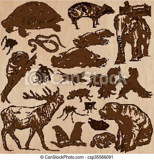 Animals - hand drawn vector pack - csp35566091