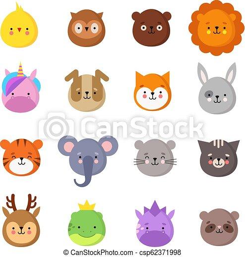 Animals Manga Smiles Cute Kawaii Baby Animal Emoticons Unicorn