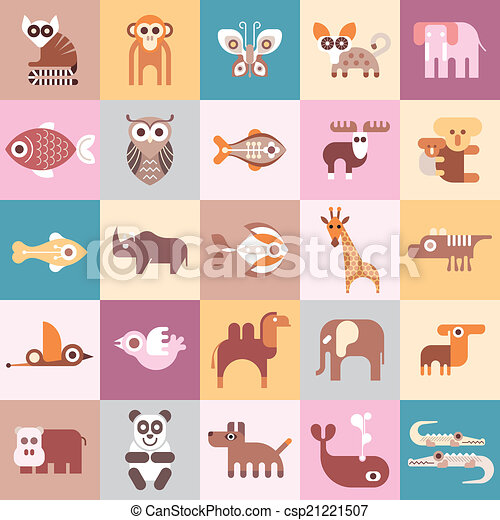 Animals vector illustration - csp21221507