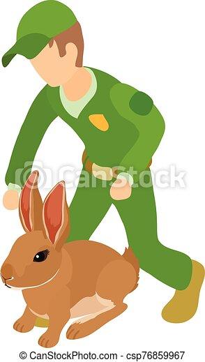 Animals welfare icon, isometric style - csp76859967