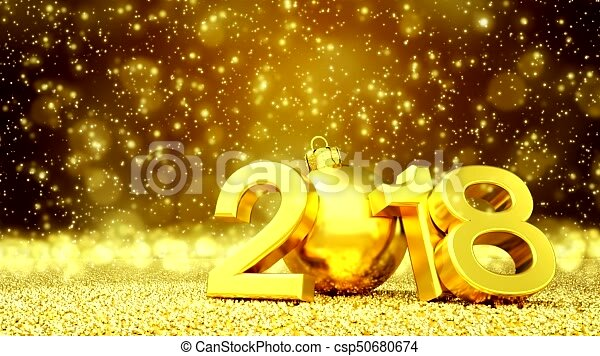 Wonderful Animation   Happy New Year 2018   Golden Greeting Card.... Stock Video    Search Video, Movies, Digital Film Video Clips   Csp50680674 Idea