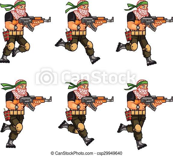 animation, milice, lutin - csp29949640