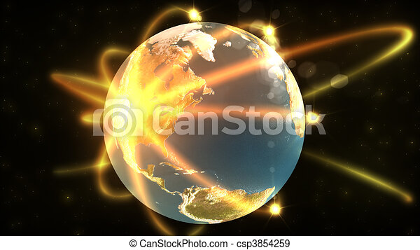 animation showing a 3d terrestrial globe in high definition