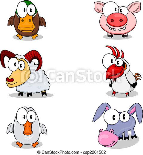animaux, dessin animé - csp2261502