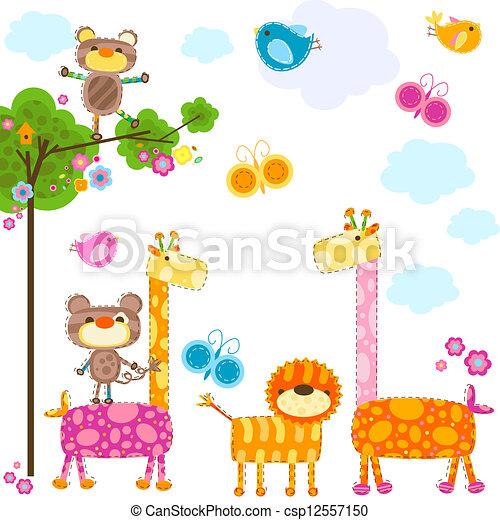 animaux, fond - csp12557150