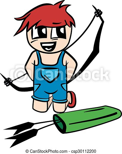 anime cartoon boy with bow and arrow vector illustration vector rh canstockphoto com anime victorian dress up anime victorian outfit