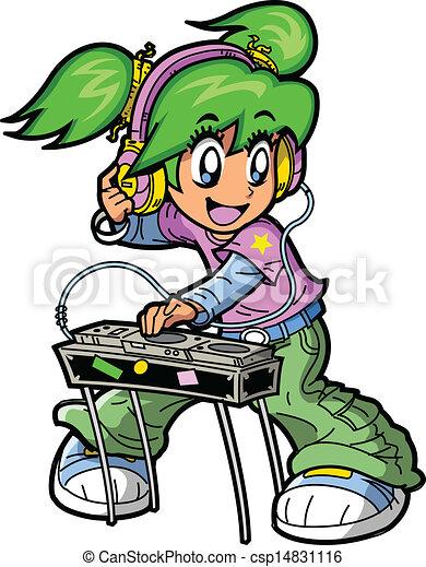 Anime Manga DJ - csp14831116