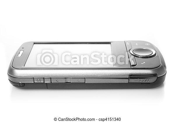 aning skärma, vit, isolerat, pda - csp4151340