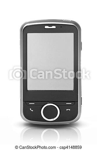 aning skärma, vit, isolerat, pda - csp4148859