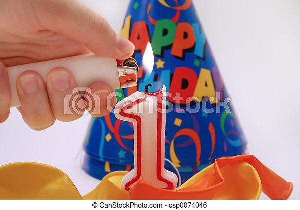 aniversário, 5, cena - csp0074046