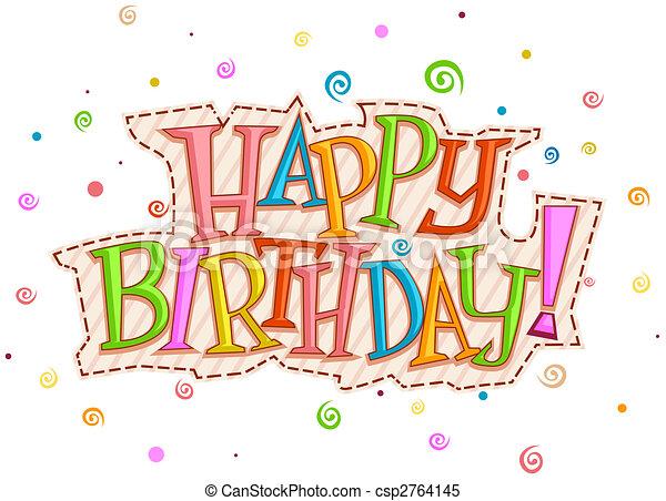 aniversário, desenho, feliz - csp2764145
