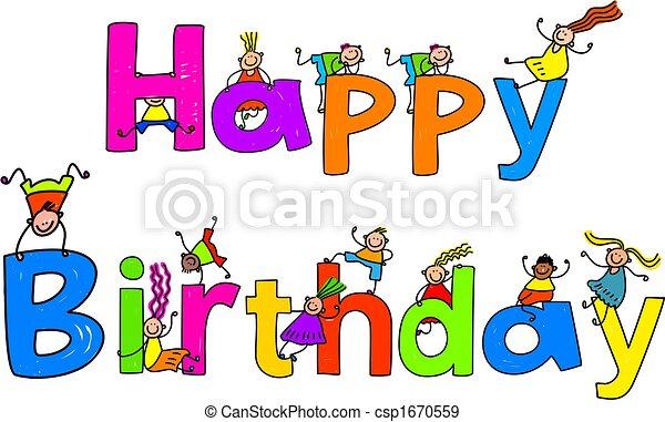 aniversário, feliz - csp1670559