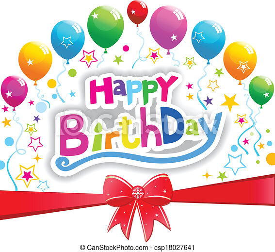 aniversário, feliz - csp18027641