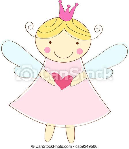 anjo, pequeno, cartão cumprimento - csp9249506