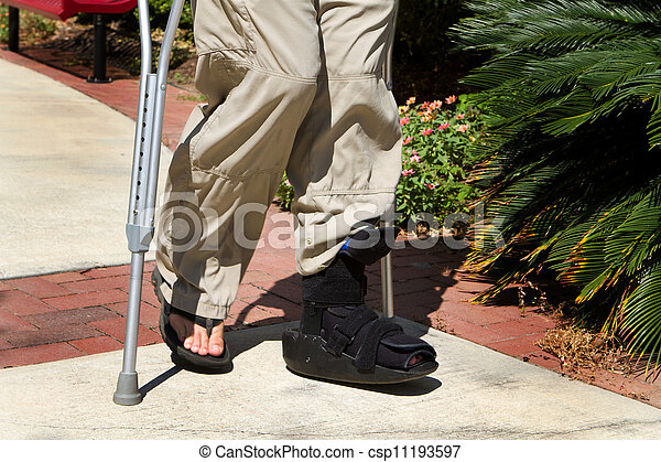 Ankle Brace Crutches - csp11193597