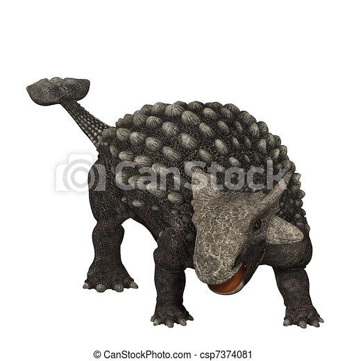 Ankylosaurus  - csp7374081