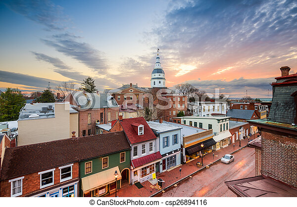 annapolis, skyline - csp26894116