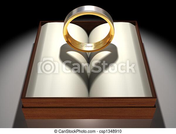 anneau, aimer - csp1348910
