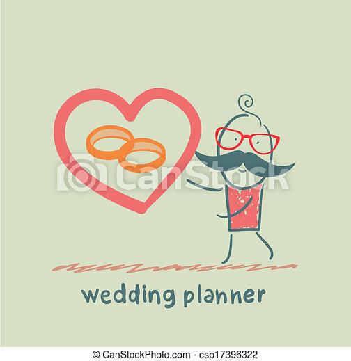 anneau, planificateur, mariage, spectacles - csp17396322