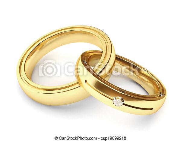 Anneaux Mariage Tres Anneaux Deux Eleve Rendre Mariage Resolution Canstock