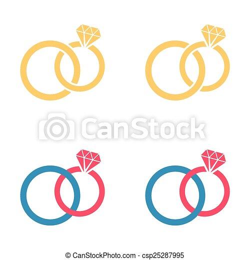 anneaux, mariage - csp25287995