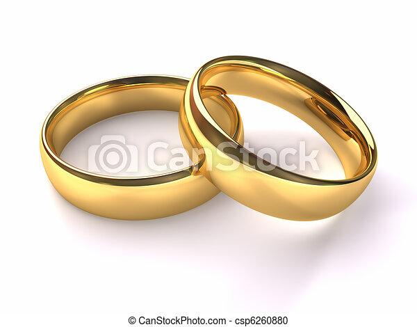 anneaux, or, mariage - csp6260880
