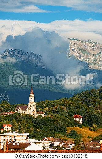 Annecy Basicila Visitation Church Alps V - csp10102518