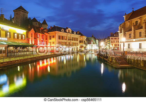 Annecy, called Venice of the Alps, France - csp56465111