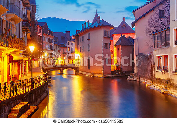 Annecy, called Venice of the Alps, France - csp56413583