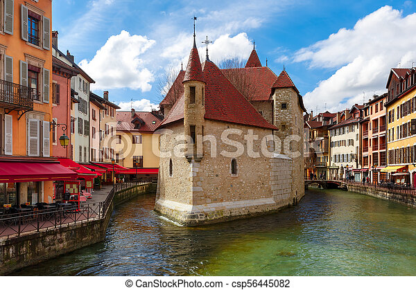 Annecy, called Venice of the Alps, France - csp56445082