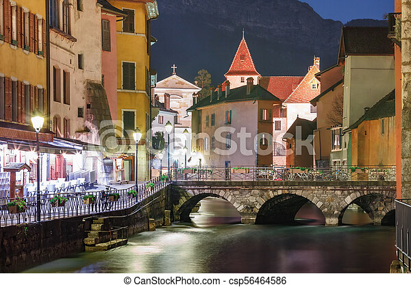 Annecy, called Venice of the Alps, France - csp56464586