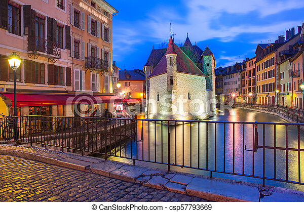 Annecy, called Venice of the Alps, France - csp57793669