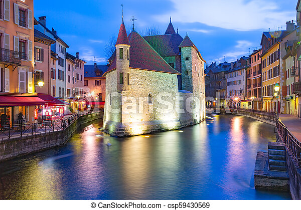 Annecy, called Venice of the Alps, France - csp59430569