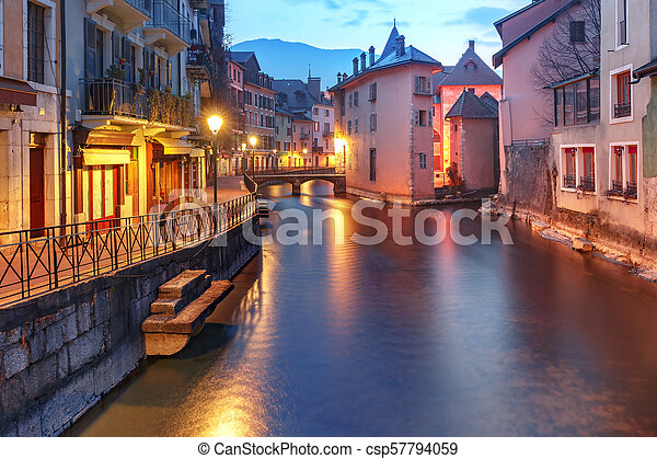 Annecy, called Venice of the Alps, France - csp57794059