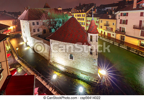 Annecy, called Venice of the Alps, France - csp56414022