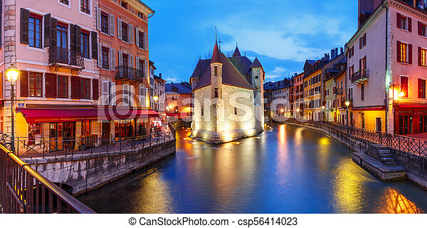 Annecy, called Venice of the Alps, France - csp56414023