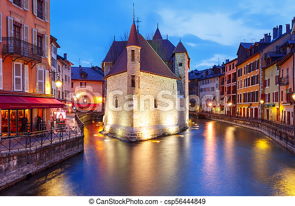 Annecy, called Venice of the Alps, France - csp56444849
