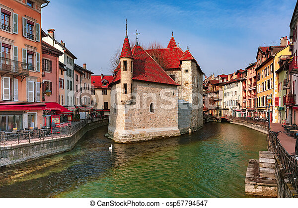 Annecy, called Venice of the Alps, France - csp57794547