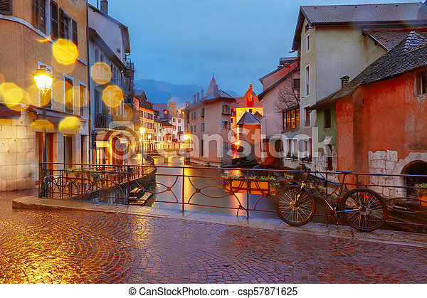 Annecy, called Venice of the Alps, France - csp57871625