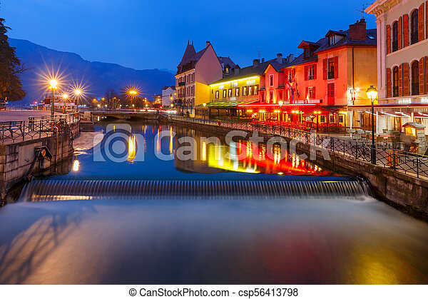 Annecy, called Venice of the Alps, France - csp56413798