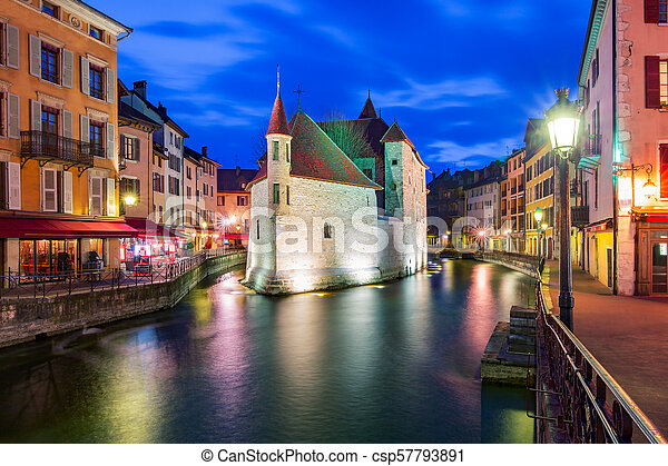 Annecy, called Venice of the Alps, France - csp57793891