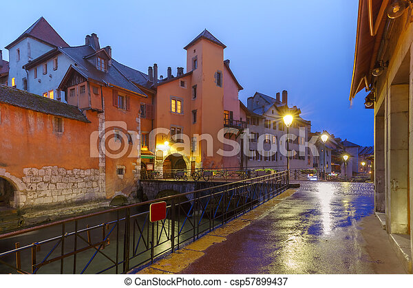 Annecy, called Venice of the Alps, France - csp57899437