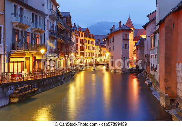Annecy, called Venice of the Alps, France - csp57899439