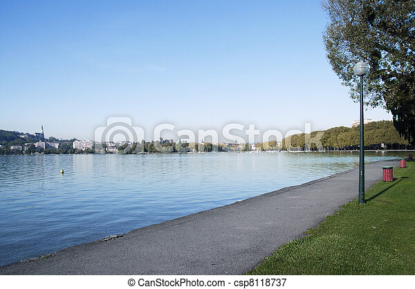 Annecy city and lake - csp8118737