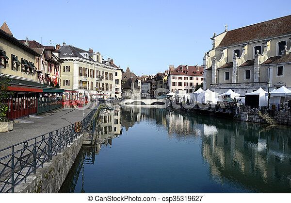 Annecy city in Savoy, France - csp35319627